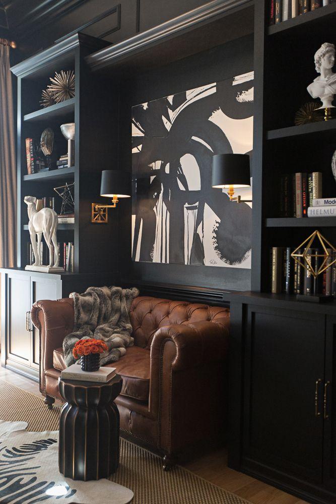 Grey Office Via Elle Decor