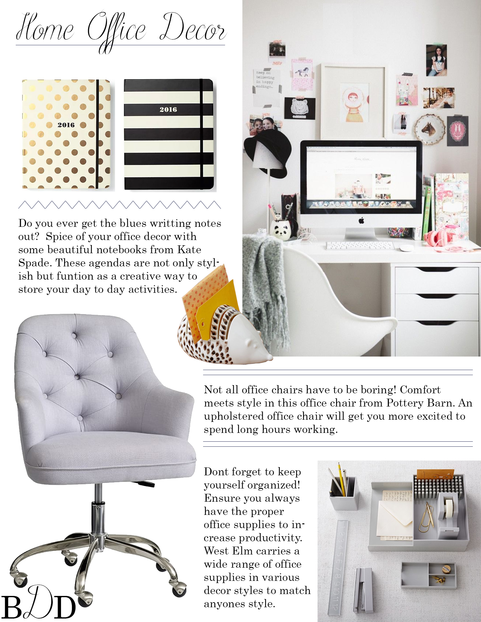 HOME OFFICE DECOR – MY GO-TO ITEMS – BlueDoorDesigner